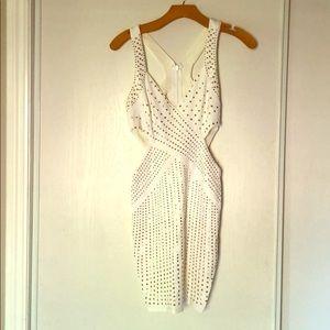 Bebe Cut-out, embellished white dress